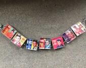 Elvis Record Album Covers link charm bracelet. Free. USA shipping