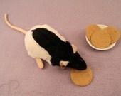 Black Half-Hooded Rat Plushie