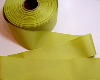 Lime Green Ribbon, Lime Green Grosgrain Ribbon 2 1/4 inches wide x 5 yards, SECOND QUALITY FLAWED