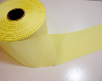 Wide Yellow Ribbon, Light Yellow Grosgrain Ribbon 3 inches wide x 2 yards