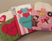 Valentine's Day Gift Card Holders with Tags. Set of 3. Kids. Robot. Animals. Frog. Handmade. Valentine.