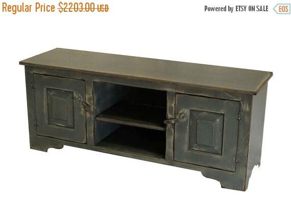 on sale girtz 60 inch tv stand blue grey on tan by shakastudios. Black Bedroom Furniture Sets. Home Design Ideas