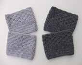 Crocheted Boot Cuffs, Women's Boot Cuffs, Boot Socks, Click for more colors, Ready to Ship