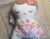 Guardian Angel Doll - Small Plush - Angel - Small Doll - Soft Toy - Valentine Doll - Valentine Toy - Cute Doll - Heart