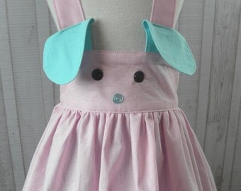 Suspender Skirt Animal Suspender Skirt Bunny Skirt Fox Skirt Cat Skirt Bear Skirt Puppy Skirt Dog Skirt Made to Order