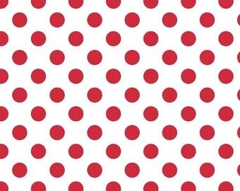 SALE Riley Blake Medium Dots Red - 1/2 Yard