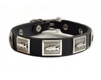 Omar fish theme dog collar