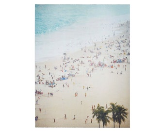 Beach Art Print Polaroid Surf Brazil Watercolor 8x10 inch