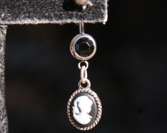HUGE SALE Classic Cameo Silhoutte DeSIGNeR Belly Button Ring Simple Cute Blingy Awesome and Trendy