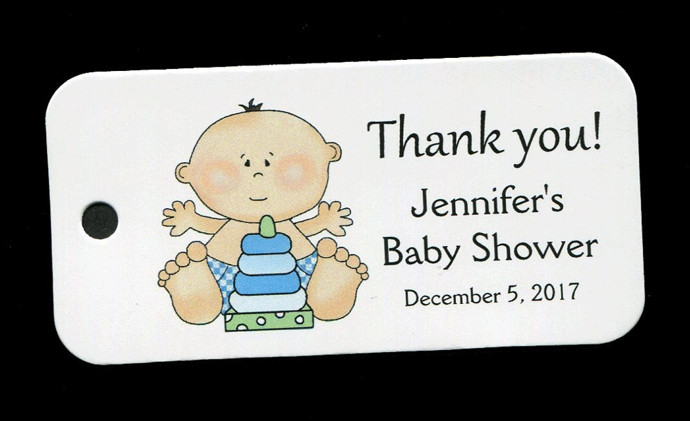 Baby Boy Gift Tags : Baby shower favor tags personalized tag boy gift