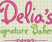 Delia's Custom Digitized Embroidery Design (private listing)
