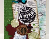Special Order For Leeann...the World is a Better Place with You in it!...leaves...Starbucks coffee sleeve pieces...Stampin'Up!