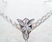 ON SALE Elven-Star  Celtic Weave Circlet Crown Tiara in silver.