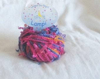 yarn destash, Laines du Nord, Lampi 59, novelty, ribbon, multicolor, F, destash
