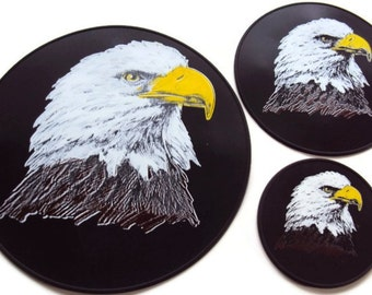 Black Silicone Eagle Table Trivet Table Coaster Spoon Rest Dining Table Hot Pad
