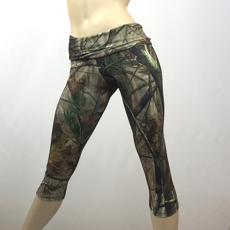 Original Womens Ladies Army Woodland Forest Camo Yoga Tight Snug Leggings Pants