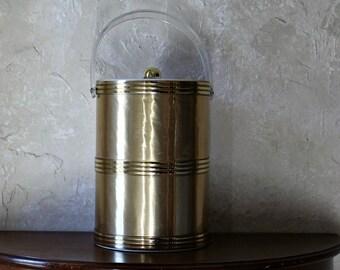 Georges Briard Ice Bucket, mid century tall ice bucket