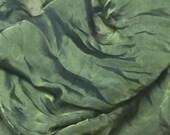 Iridescent OLIVE GREEN Silk CHIFFON Fabric - 1/3 Yard
