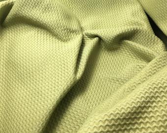 Sage Green Wavy Cotton Home Decor Fabric - 1 Yard