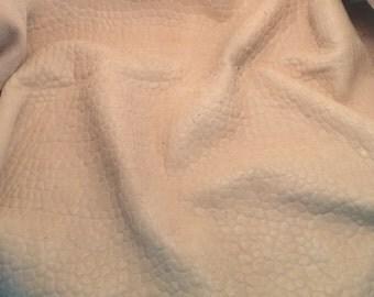 BEIGE Bubbled Lambskin Leather Hide Piece #1