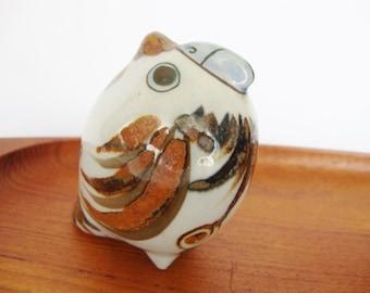 vintage KE mexico stoneware parrot bluebird figurine Ken Edwards mexican pottery
