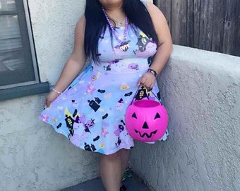 Candy Cemetery Dress Pastel, Halloween Dress, Candy Dress, Candy Corn Dress