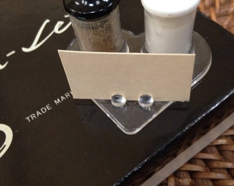 50's salt and pepper individual sets with name cards