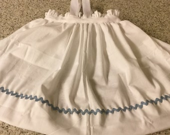 Raggedy Ann Apron fits Size 2 to 4, Select your color of RickRack, Can be Personalized