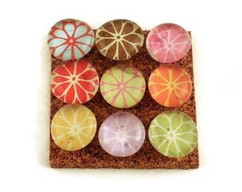 Decorative  Thumb Tacks Push Pins Cork Board Pins in Petals   (P50)