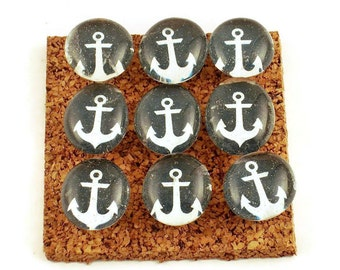 Funky Push Pins Decorative Thumb Tacks Nautical Bulletin Board Pins  in Anchors Away   (P14)