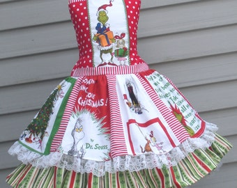 Ready to Ship Custom Boutique Grinch Whoville Girl Dress Size 5 / 6