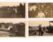 Eight Antique Photographs Men and Women Snapshots Great for Altered Art