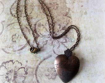 Etched on My Heart JMJ Necklace