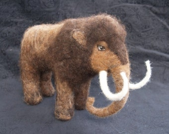 Woolly Mammoth- Needle Felted Wool Sculpture