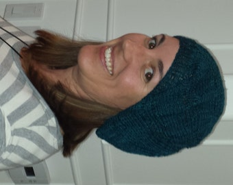 Dream of a Hat Pattern  - Slouchy, Rastafarian, Knit with sport, DK or worsted yarn, Easy to Intermediate skill level