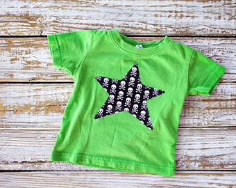 Star Skull and Crossbone Tee - 6 months