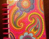 Happy Planner Cover MAMBI Create 365 Paisley 70s Groovy One of a Kind Hand Colored