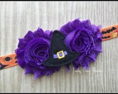 Witch Headband, Halloween Headband, Trick or Treat Headband, Holiday Headband, Girls Witch Headband, Witch Hat Headband, Halloween Bow