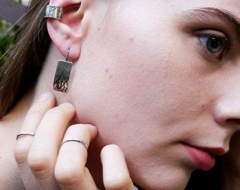 Handmade Sterling Silver Praying Mantis Earrings, Praying Mantis Jewelry, Insect Jewelry, Entomology Jewelry