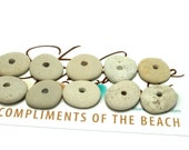 DUNES Beach Stones Solid Pebble Rocks Natural Jewelry Beads Cairn Mix Spacers Artisan Supporting Focal Bead Stack Medium Size