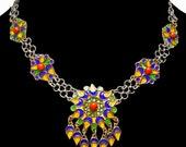 RESERVED  Vintage Moroccan Enamel Necklace