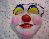 vintage clown latex mask