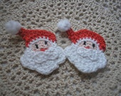 Crochet Santa Claus Appliques Set of two