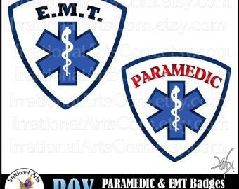 Boy Paramedic & EMT 2 digital graphics clip art  and Small Commercial License (Instant Download)