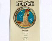 Brown Hen Felt Badge