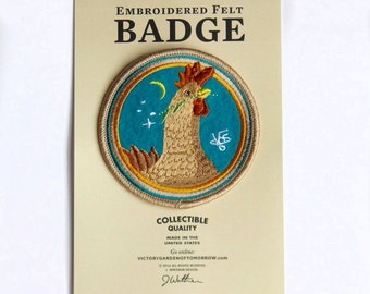 Brown Hen Felt Badge