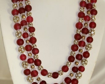 Red Bling Necklace