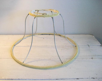 40% off SALE-use coupon code Discount40 at checkout-Vintage Bell Shaped Metal Lamp Shade Frame