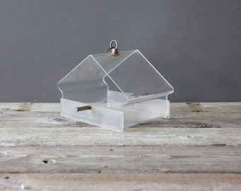 Vintage Lucite Bird Feeder
