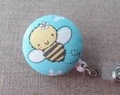 Cute Badge Reel   Badge Holder, Retractable Badge Holder, Nurse Badge Reel, ID Badge Holder, Badge Clip, Cute Badge Ree -BABY BEE